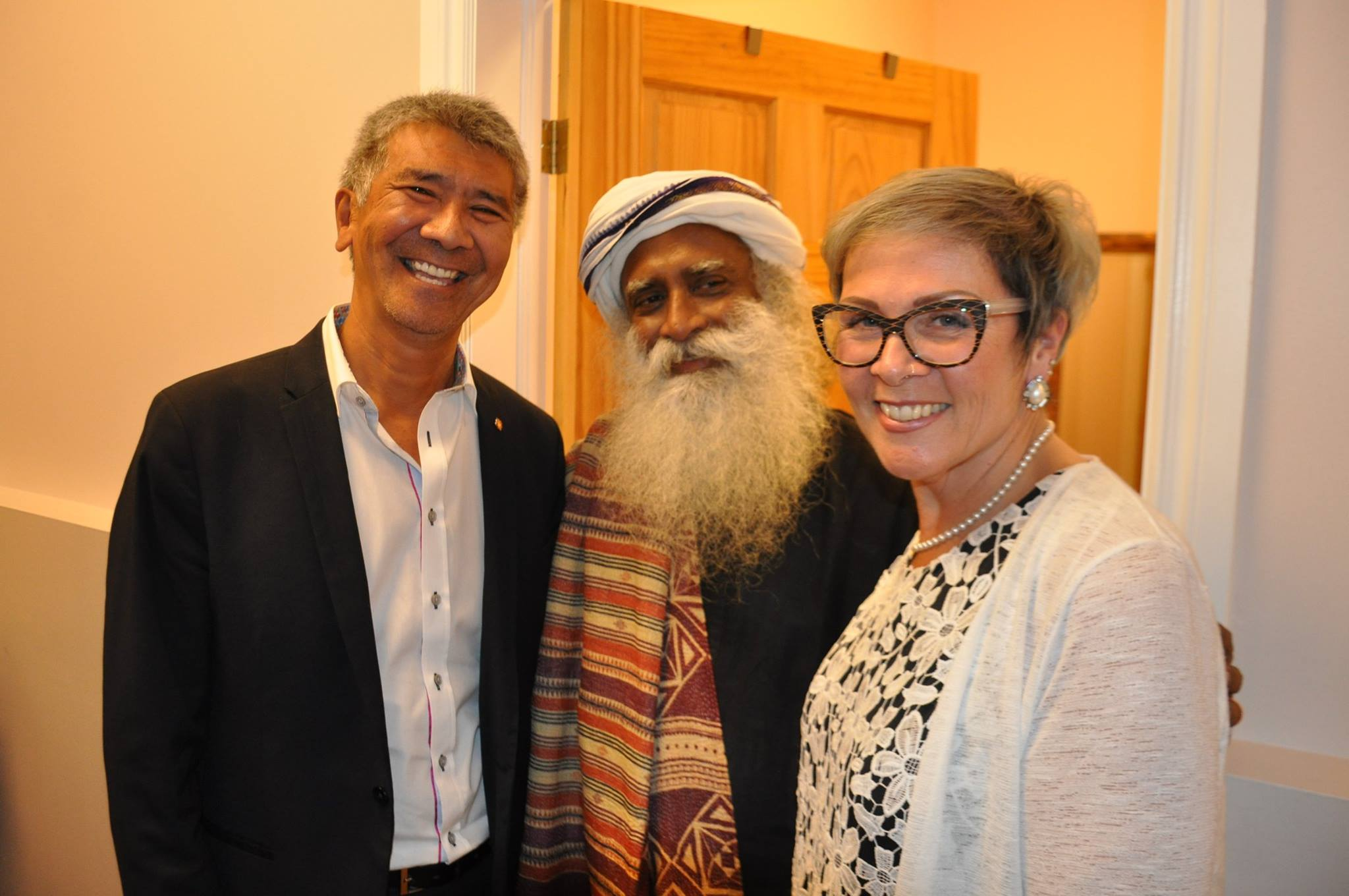Appreciation - Sadhguru and Clarington Deputy Mayor Willie Woo