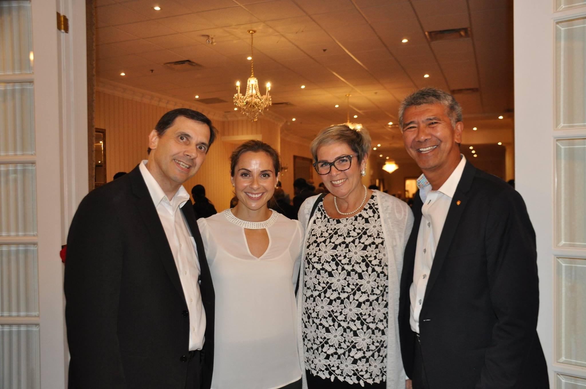 Appreciation with Andi Petrillo and Clarington Deputy Mayor Willie Woo