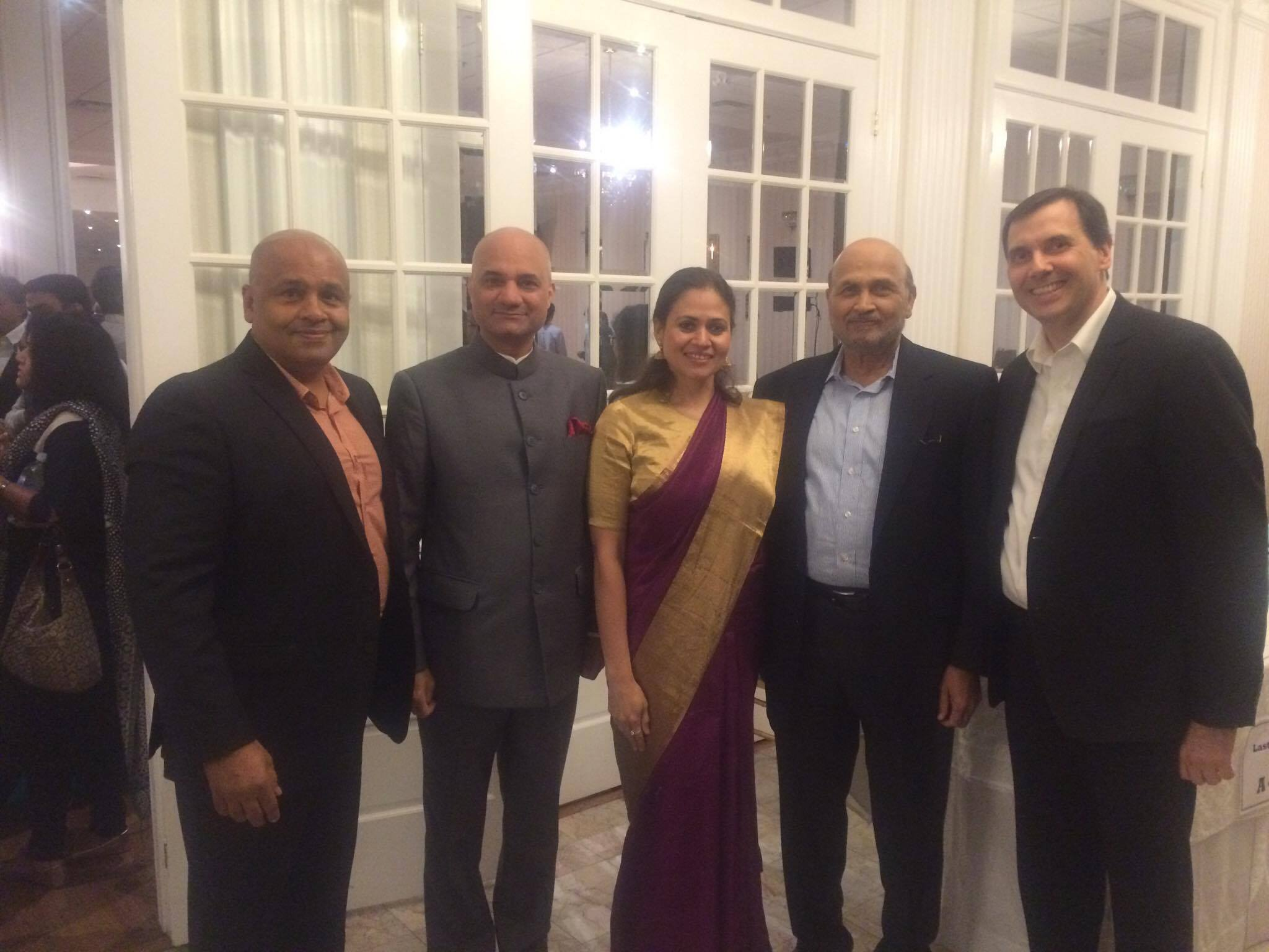 Appreciation with Consul General of India Dinesh Bhatia his wife and Guests